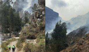Incendio forestal dejó sin agua potable a siete localidades de la región Áncash