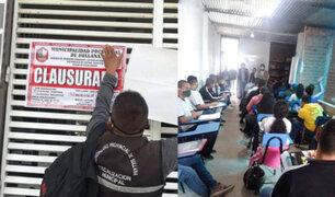Piura: clausuran academia pre policial–militar por dictar clases presenciales