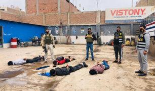 Tras feroz balacera capturan banda de extranjeros en San Martín de Porres