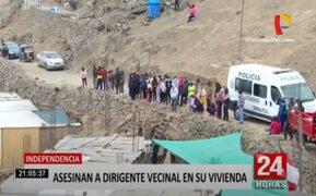 Independencia: matan de varios disparos a dirigente vecinal