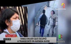 Pueblo Libre: ubican a mujer que escupió a hombre en Av. Sucre