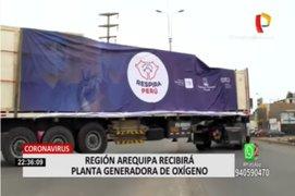 Coronavirus: Región Arequipa recibirá planta de oxígeno de Respira Perú