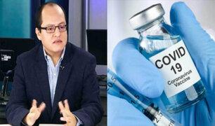Víctor Quijada: Gobierno debe tener como prioridad no hacer política y anteponer vacuna contra Covid-19