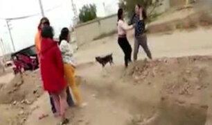 Violencia en Tumbes: mujeres se agarran a golpes por terreno