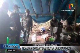 Vraem: PNP decomisó casi 200 kilos de clorhidrato de cocaína