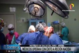 Breña: médicos del INSN operaron con éxito a recién nacida