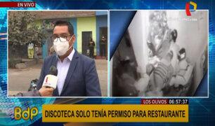 Los Olivos: regidor confirma que discoteca Thomas Restobar fue clausura de forma definitiva el 2019