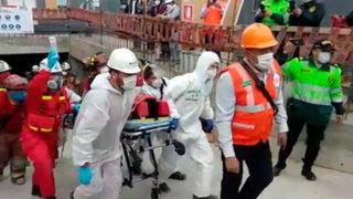 San Isidro: obrero fue rescatado luego de haber quedado atrapado en derrumbe de edificio