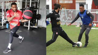 A días de conocer la lista de convocados, Farfán y Cueva se ponen a punto en la Videna