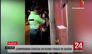 Huacho: detienen a sujeto compraba cerveza en pleno toque de queda