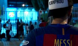 Lionel Messi: hinchas del Barcelona llegan al Camp Nou para exigir salida de Bartomeu