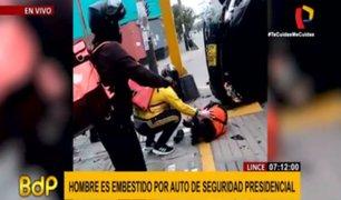 Lince: joven puede perder mano y pierna tras ser impactado por vehículo oficial