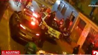 El Agustino: militar es escupido por sujeto que bebía licor en plena calle