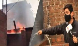 EXCLUSIVO | VES: dos menores quedan atrapados en incendio al interior de una vivienda