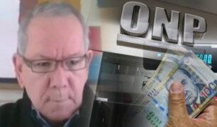 """Carlos Adrianzén sobre retiro de ONP: """"Es escandalosa la iniciativa del Congreso"""""""