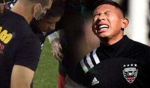 Edison Flores sufrió duro choque en la cabeza en el DC United vs. NER