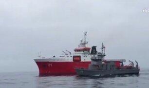 San Bartolo: con buques oceanográficos sigue búsqueda de ultraligero
