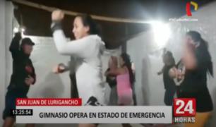 SJL: gimnasio opera en pleno estado de emergencia