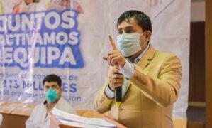 Gobernador de Arequipa pidió a Martín Vizcarra que levante cuarentena