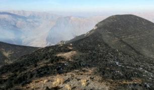 Bomberos piden ayuda para sofocar incendio forestal en Valle Sagrado de Los Incas