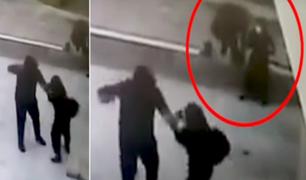 Chorrillos: golpean salvajemente a mujer para robarle su mochila