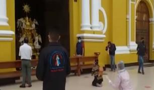 Catedral de Trujillo reabrió sus puertas y fieles llegaron para rezar por pacientes COVID-19