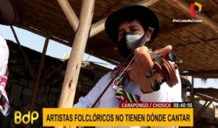Artistas folclóricos también sufren los efectos de la crisis