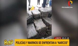 Loreto: incautan más de una tonelada de marihuana tras enfrentamiento con narcotraficantes