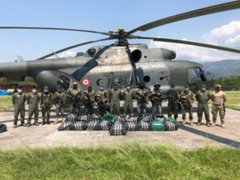 Fuerzas Armadas y Policía Nacional decomisan 750 kilos de droga en el Vraem