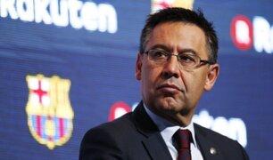 Crisis en el Barça: Bartomeu dejaría el cargo para que Messi se quede en el club