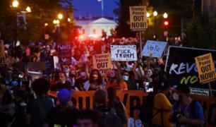 Donald Trump: manifestantes llegan a la Casa Blanca minutos antes de su nominación