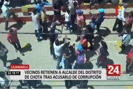 Cajamarca: Comuneros retienen a alcalde del distrito de Chota tras acusarlo de corrupción