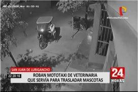SJL: roban mototaxi de veterinaria que servía para trasladar mascotas