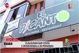 Santa Anita: intervienen cebichería que funcionaba como bar