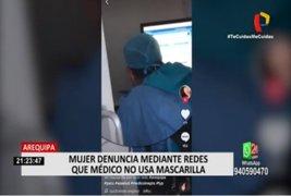 Arequipa: Mujer denuncia en Tik Tok a médico por no usar mascarilla