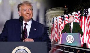 Trump aceptó candidatura republicana a la presidencia de EEUU por un segundo periodo