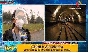 """Vicerrectora de U. La Molina: """"No hay ningun terreno que se pueda ceder para obra del Metro"""""""