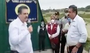 Tumbes: presidente del Congreso fue captado sin mascarilla en actividad pública