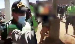 Puno: policía salva a ladrón que iba a morir quemado
