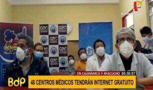 Centros de salud de Cajamarca y Ayacucho harán teleconsultas con Internet gratuito