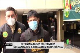 Detienen a falsos colectiveros que asaltaron a abogado de Independencia