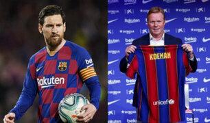 Ronald Koeman prepara entrenamientos y busca la permanencia de Lionel Messi