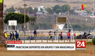 Costa Verde: jóvenes siguen desafiando al coronavirus y se reúnen para practicar deportes en grupo