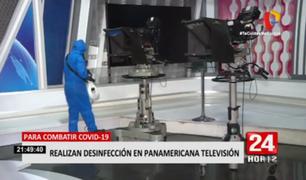 Realizan desinfección en Panamericana Televisión para prevenir y combatir al coronavirus