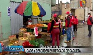 Rímac: ambulantes informales retoman las calles del mercado Caquetá