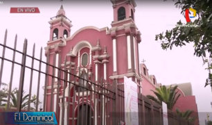 Iglesia de Santa Rosa de Lima sin fieles por la pandemia de Covid-19
