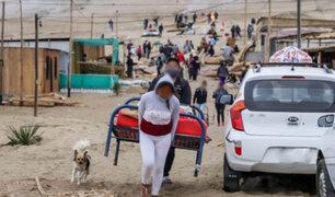Desalojan a decenas de personas que invadieron terrenos del Estado en Áncash