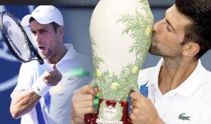 Novak Djokovic se coronó campeón en Cincinnati