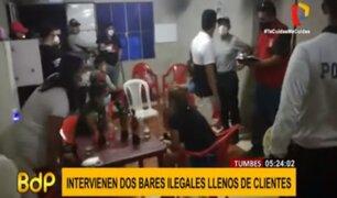 Tumbes: intervienen y clausuran bares clandestinos