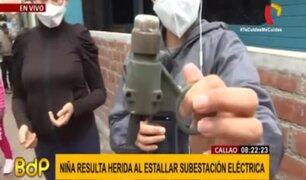 Enel cubrirá atención de niña afectada por explosión de subestación eléctrica